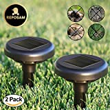 Reposam Mole Repellent 2 Pack Ultrasonic Solar Powered Waterproof Pest Repeller for Moles Voles Gophers Chipmunks Rats Squirrel for Outdoor Garden Lawn Patio Backyard Safe Harmless for Pets non Toxic