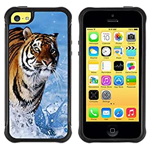 iKiki Tech / Estuche rígido - Tiger Blue Water Nature Sun Summer - Apple iPhone 5C