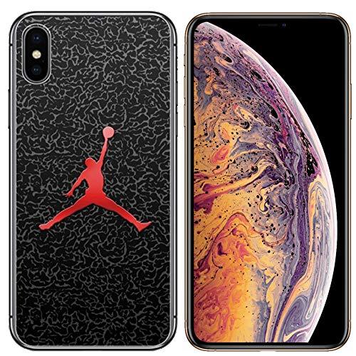 Mj Dunk Slam - Ailiber for iPhone Xs Max Case, Sport Shot Ball Slam Dunk MJ AJ NBA Slim Soft Shockproof TPU Corners Bumper Cushion Protective Cover for Apple iPhoneXSMax XsMax 2018 6.5inch - Basketball