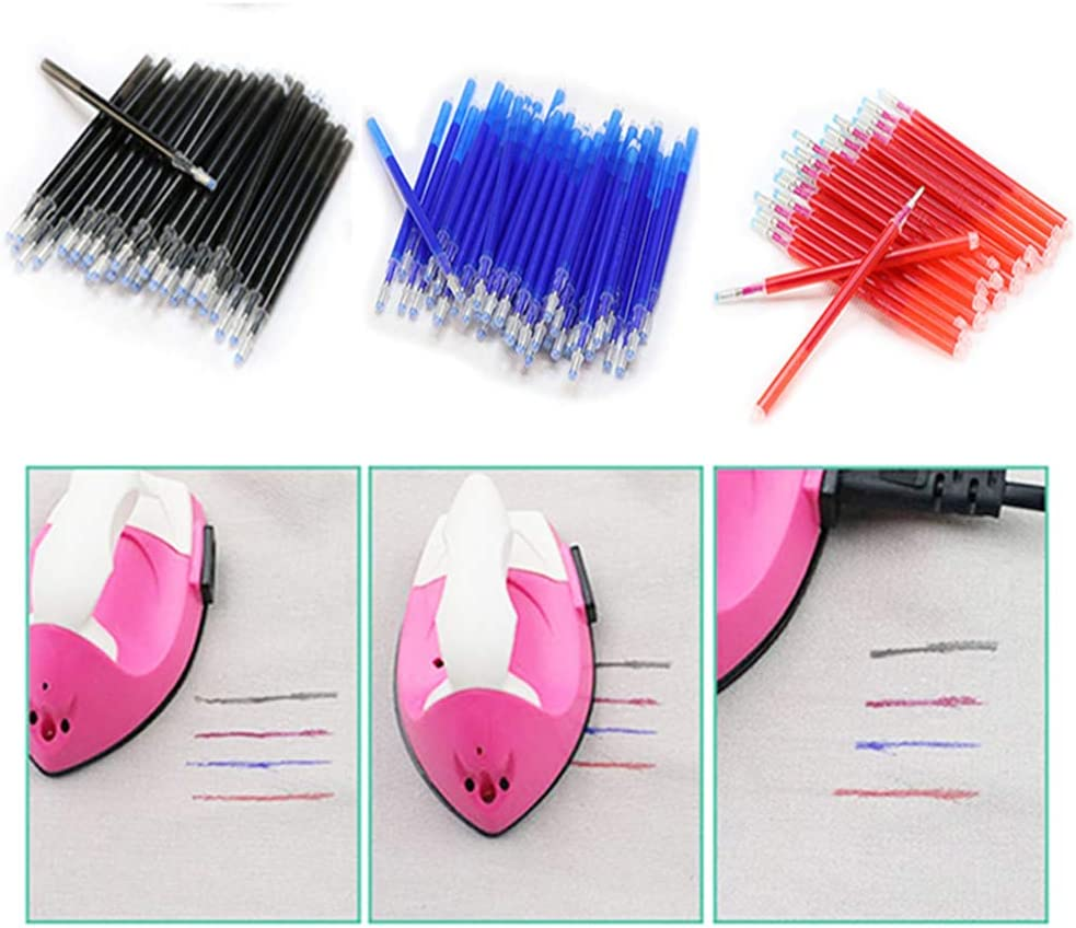 and Quilting Dressmaking VIDELLY 60 Pieces 0.5mm Refills Heat Erasable Fabric Marking Refills,for Tailors Sewing Heat Erasable Refills for Various Colors of Fabrics,Black