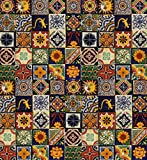 USA Premium Store 100 Mexican Talavera Ceramic Tiles 4'' MIXED