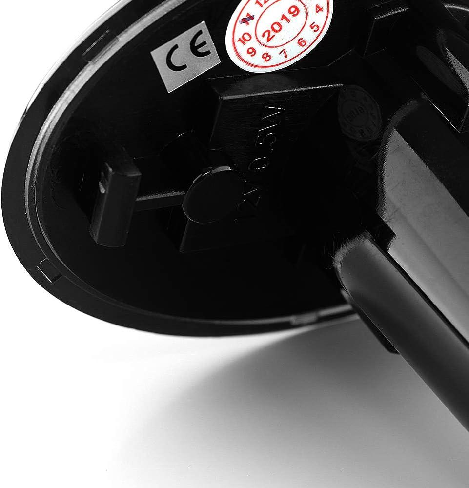 2 x LED Blinkleuchte Blinker DYNAMISCHE Seitenblinker Kortfl/ügelblinker mit E-Pr/üfzeichen Black Vision V-173310LG