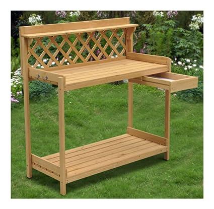 Amazon.com: Wood Planter Potting Bench Outdoor Garden ...