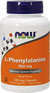 NOW Supplements, L-Phenylalanine 500 mg, Nervous System Support*, Amino Acid, 120 Veg Capsules
