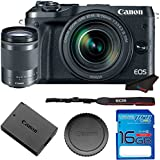 Canon EOS M6 Digital Camera With (Silver) 18-150mm f/3.5-6.3 IS STM Lens + 16GB Memory Card