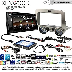 Volunteer Audio Kenwood DDX25BT Double Din Radio Install Kit with Bluetooth CD DVD Player Fits 2010-2015 Chevrolet Camaro