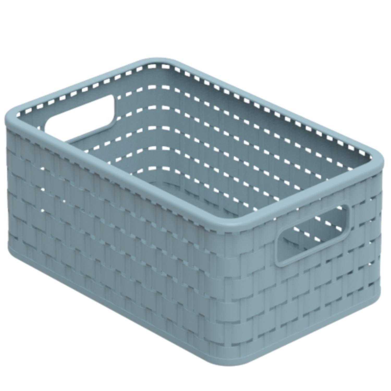 Effetto Rattan Confezione 1 Tortora Rotho 1115307422 Contenitore Country Box