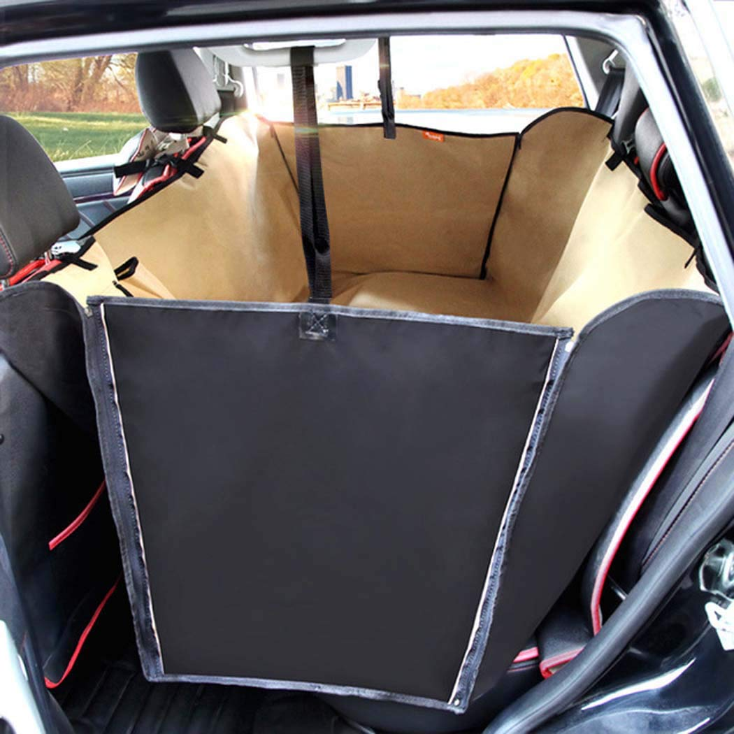 Beige LargePet car seat, NonSlipWaterproof car Covers seat, Waterproof NonSlipdog car seat Covers Hammock, Bucket seat pet car seat Covers Back seat,Black,L