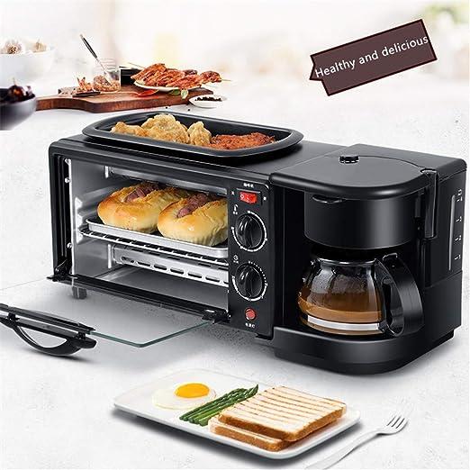 JIASHU Máquina de Desayuno 3 en 1 de Acero Inoxidable, cafetera ...
