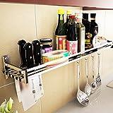 304 stainless steel dressing rack / kitchen utensils storage warehouses / wall kitchen shelves wall pendant ( Size : 90CM )