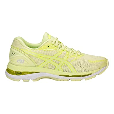 Asics T850N Women's Gel-Nimbus 20 Running Shoe, Limelight/Limelight/Safety  Yellow