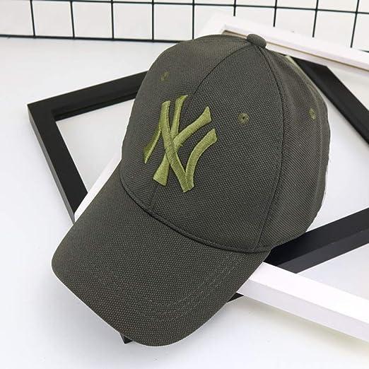 xiaochicun NY Gorra de béisbol Estilo irrestricto Carta Sombrero ...
