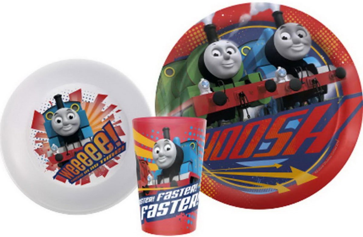 Thomas and Friends 3pc Plate, Bowl and Tumbler Mealtime Set