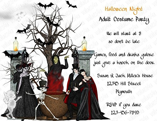Personalized Halloween Invitation (halloween133) (sold in packs of (Personalized Halloween Invitations)