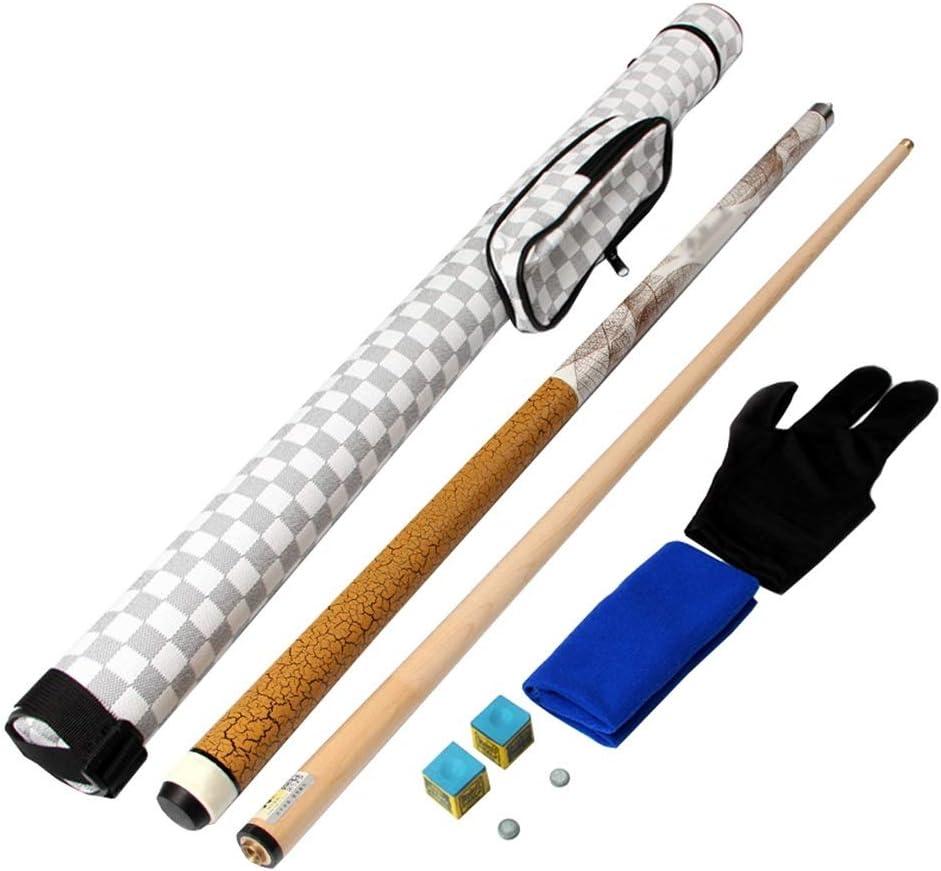 Lcrod ポータブルケースウッドストレートロッドビリヤードスポーツアクセサリーとプールの手がかり (Color : B, Size : 10.5mm) B 10.5mm
