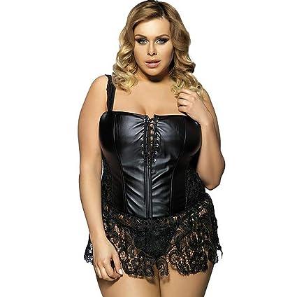 57ed40d955 Shangxian women erotic bodysuits faux leather latex jpg 425x424 Corset big  size