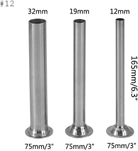 Smokehouse Chef Stainless Steel #12 Stuffer Tubes for Meat Grinder