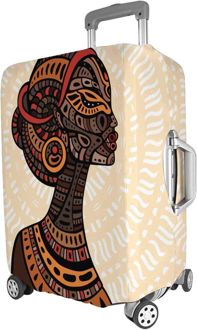 Suitcase Cover Beautiful African Woman Aztec Tribal Ethnic Luggage Cover Travel Case Bag Protector for Kid Girls