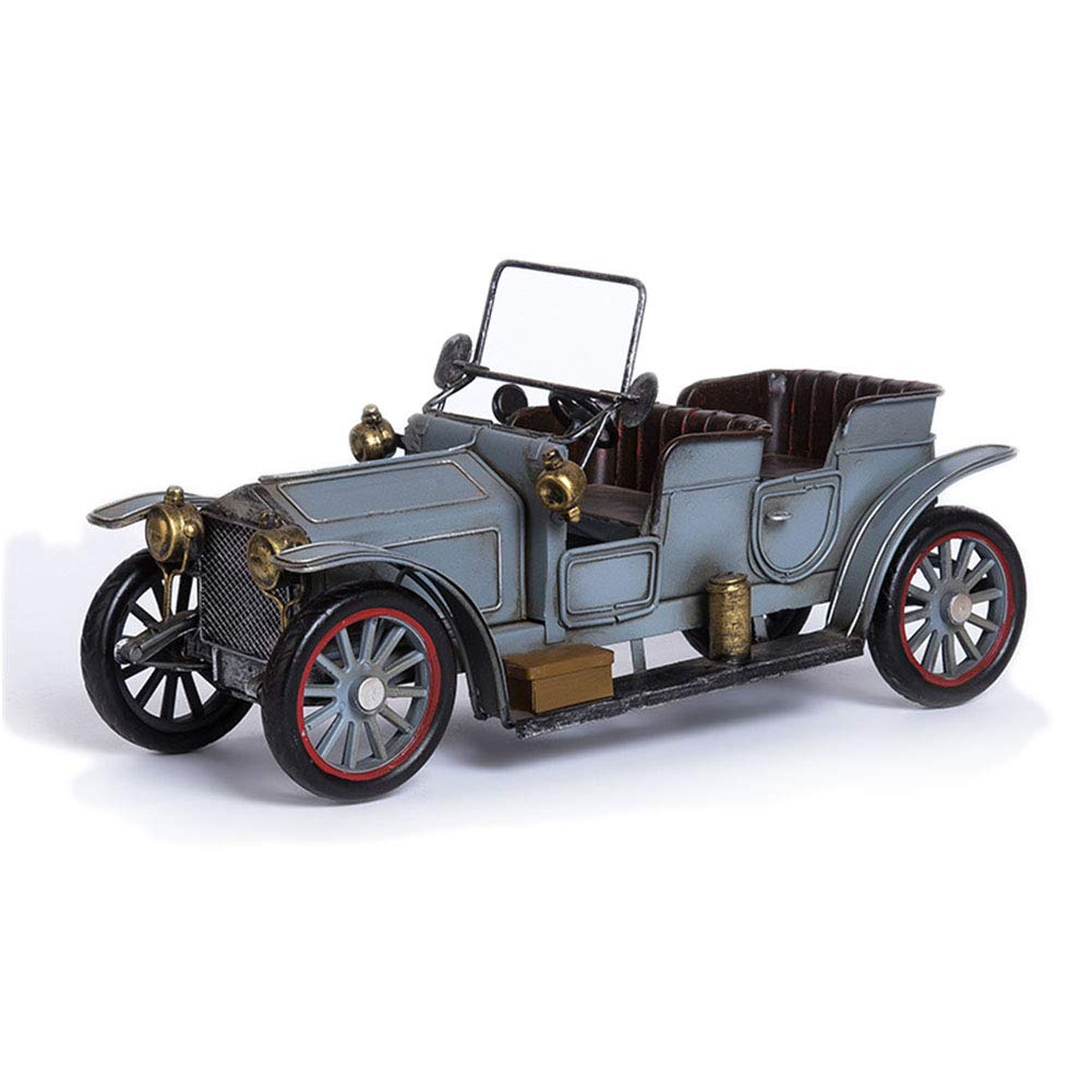 Metal Antique Vintage Car Model Retro Handicraft Vintage Iron Car Models Handmade Classic Vehicle Models Classic Car Collection (Silver Charm)