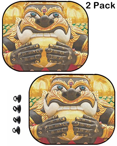 - MSD Car Sun Shade Protector Block Damaging UV Rays Sunlight Heat for All Vehicles, 2 Pack Image ID: 5517951 Giant in Thai Style Molding Art