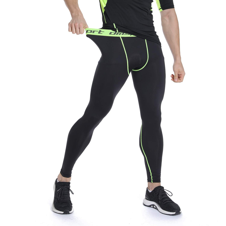 FITTOO Collant Sport Homme Pantalon de Compression S/échage Rapide pour Musculation Jogging Basketball