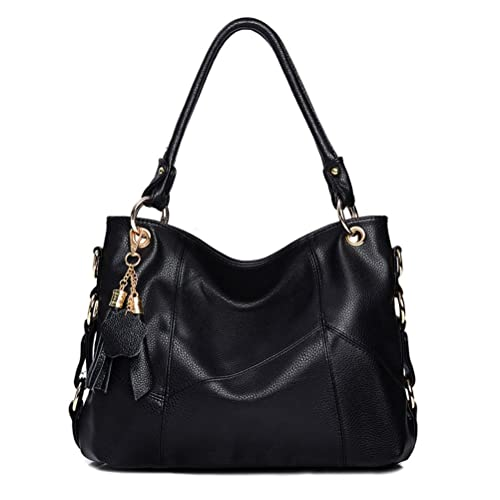 fd08016a8e2bd Vintga Genuine Leather Tote Bag Top Handle Satchel Handbag Tassel Shoulder  Bag Large Purse Crossbody Bag