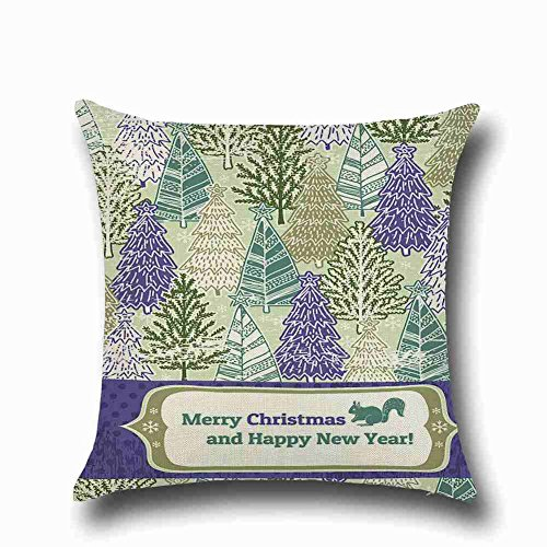 Mootin Merry Christmas Printed Home Decor Linkwell Throw Pillowcase Pillow Cover 18 x 18 Inches (Crossword Christmas Puzzle Clue)