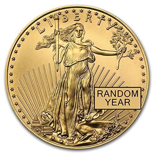 Double Eagle Coin - 1986 - Present 1/2 oz Gold American Eagle BU (Random Year) 1/2 OZ Brilliant Uncirculated