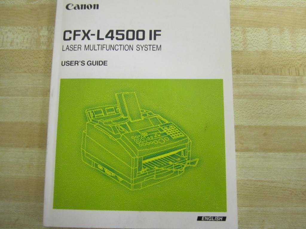 Canon cfx-l4500 if cfxl4500if user's guide used mara industrial.