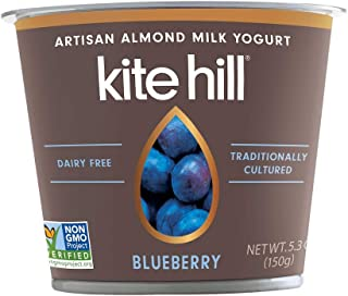 product image for Kite Hill Artisan Almond Milk Yogurt, Blueberry, 5.3 Ounce (Pack of 12)