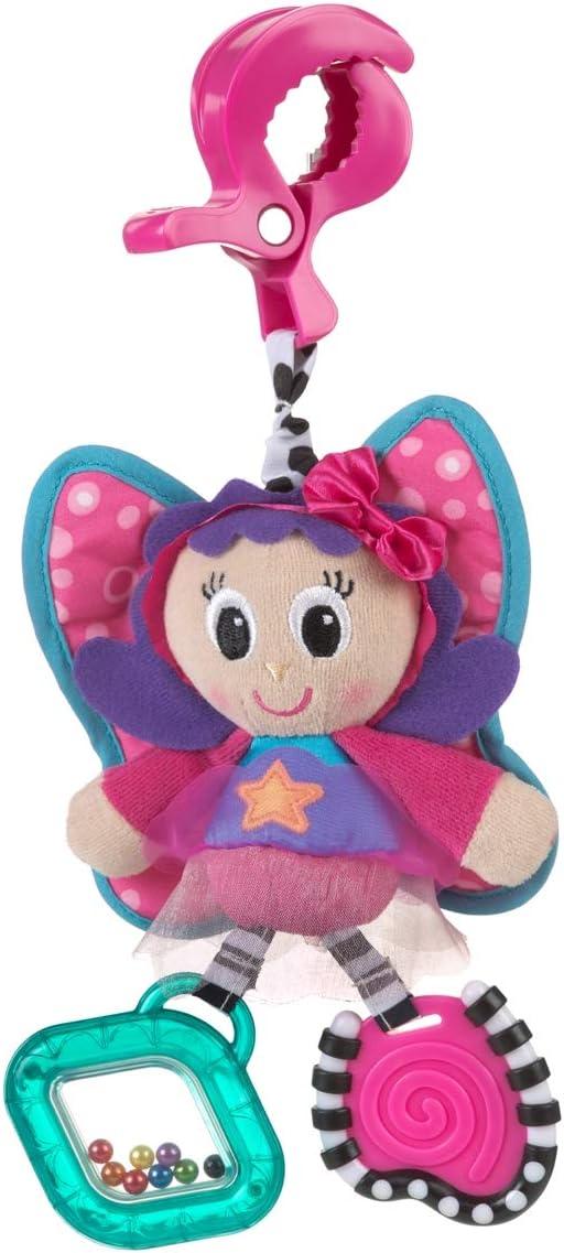 Playgro Juguete Colgante Hada, Desde el Nacimiento, Dingly Dangly Floss the Fairy, Rosa/Azul, 40107