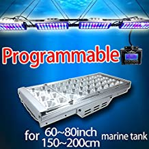 "Timer Control Marine Lighting For 60""-72"" Coral Reef Fish Tank, Saltwater Led Lamp Programmable Dimmable SPS/LPS"