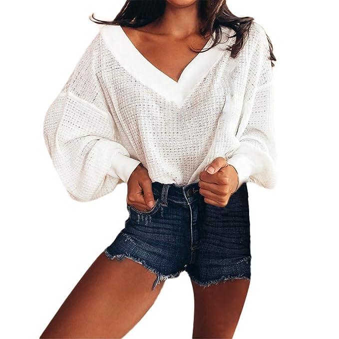 ASHOP Ropa Mujer, Sudaderas Mujer Tumblr Anchas Blusas Elegantes Negras Tops Deportivo Marca (Blanco