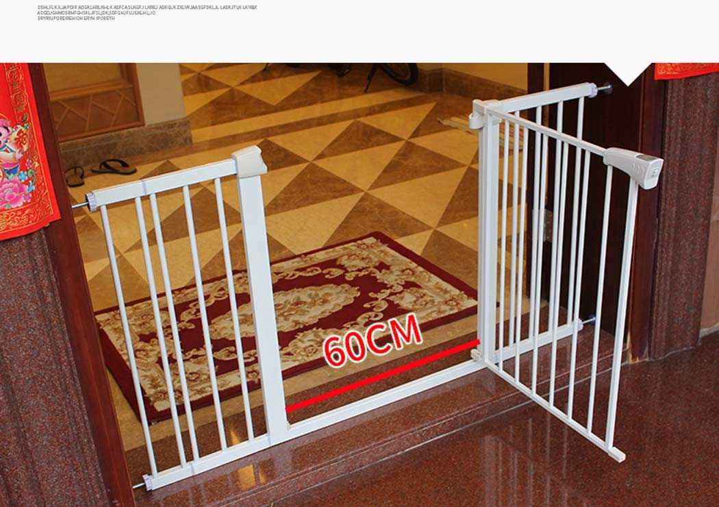 7582cm Pet Gates for Dogs, Safety 1st Easy Install Metal Baby Gate with Pressure Mount Fastening (White),7582cm