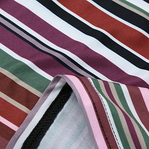 Nero Pullover Autunno Vestito Boho XL Donna Maxi Lunghe T ABCone S Elegante Felpa Tops strisce Party Camicette Maniche serale Camicie Shirt A Casual qAC4Bw45