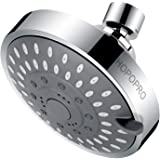 High Pressure Fixed Shower Head Hopopro 5-Setting Upgraded Bathroom Showerhead 4 Inch High Flow Shower Head with Adjustable M