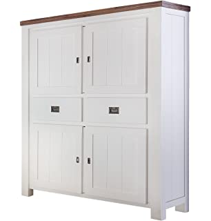 Highboard weiss excellent highboard xxcm tren schubladen for Schrank 100 cm hoch