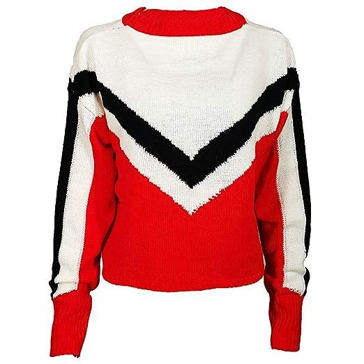 JYC-Suéter para Mujer, Mujeres de Manga Larga de Punto Jersey, Mujer Raya O-Cuello Largo Manga Tejer PulloverPrendas de Punto Blusa Suéter Tops: Amazon.es: ...