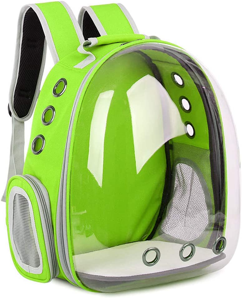 Walking Cycling /& Outdoor WuLi77 Pevt Carrier for Dogs and Cats,Breathable Transparent Capsule Dog Backpack Pet Carrier Backpack for Pets Hiking