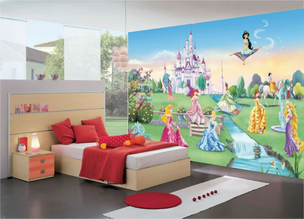 Disney Princess Castle Photo Wall Mural 368 X 254 Cm Amazoncouk DIY Tools