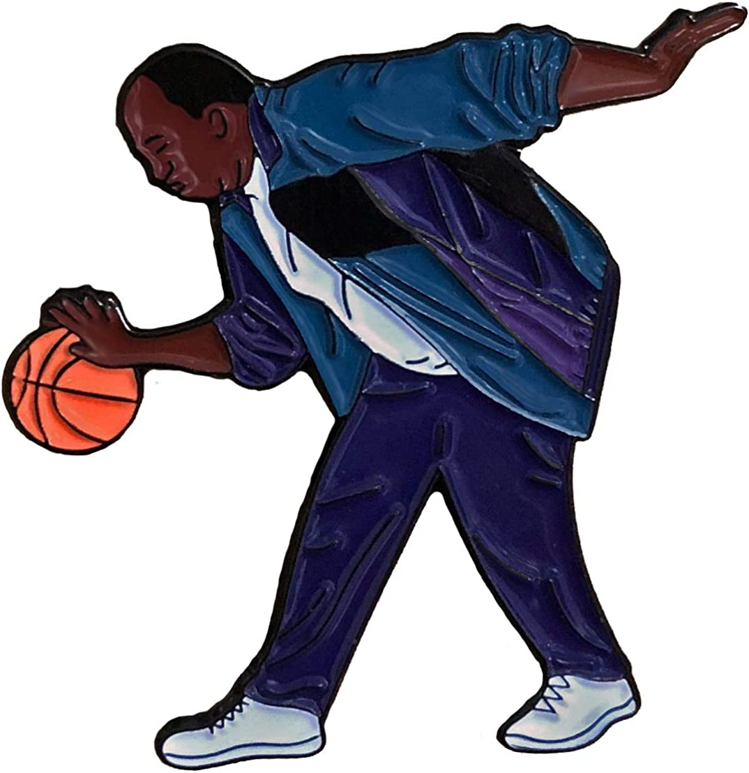 Balanced Co. Stanley Hudson Basketball Enamel Pin Michael Scott Pin