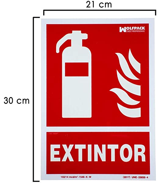 Normaluz RD00101- Señal Extintor, Extinción Homologada de ...