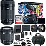 Canon EOS Rebel T6i DSLR Video Creator Kit with 18-55mm & 55-250mm Lens Bundle
