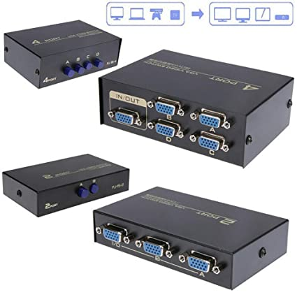 Computer-peripheriegeräte Computer & Büro 130 Mhz 1 Zu 2 Monitor Schalter Vga Video Splitter Konverter Adapter Box
