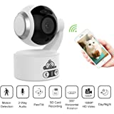 WiFi Ip Camera,1080P HD 360° Vision Motion Detection Baby Pet Monitor,Pan Tilt Home Security Cameras,Two Way Audio Night Vision Surveillance System,Support up to 128GB Storage