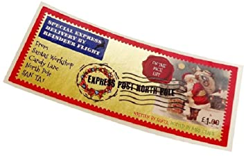 3 sellos navideños para enviarle una carta Papá Noel, diseño ...