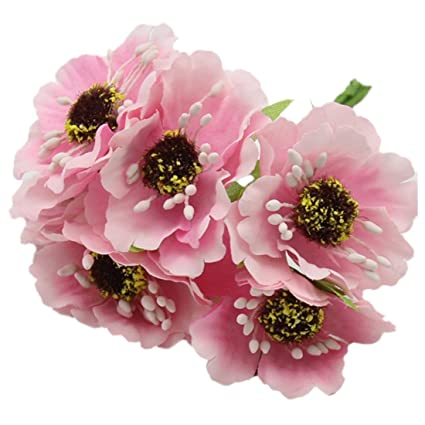 Amazon artificial poppies camellia toogoor silk poppies artificial poppies camellia toogoor silk poppies camellia 5cm 60pcslot artificial mightylinksfo