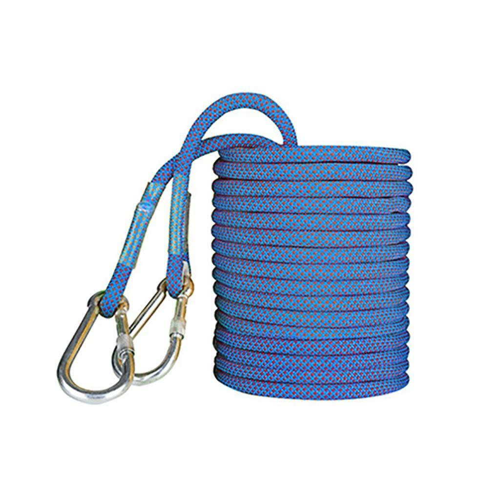 Bleu ZPWSNH Corde de Nettoyage de la paroi extérieure résistante à l'usure de la paroi extérieure de 16 mm Corde d'escalade (Couleur   jaune, Taille   15M(49.2FT)) 70M(229.6FT)