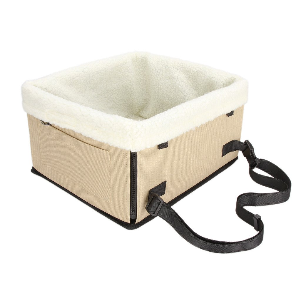 Dromedary Pet Booster Seat Fashion Pet Car Seat Ivory