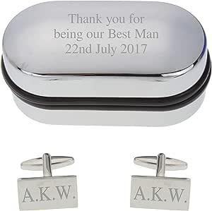 Go Find A Gift Gemelos rectangulares con Grabado Personalizado en ...